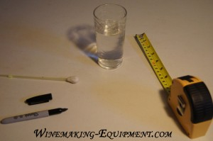 Home made hydrometer parts