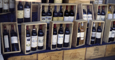 Wine Bottles in Wooden Boxes