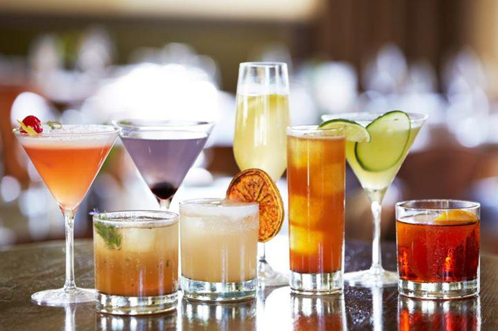 An assortment of gluten free cocktails for vegans